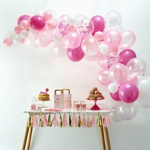 bruiloft-decoratie-ballonnenboog-pink (2)