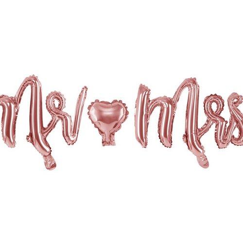 bruiloft-decoratie-folieballonnen-mr-mrs-rosegoud