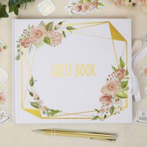 bruiloft-decoratie-gastenboek-geo-floral
