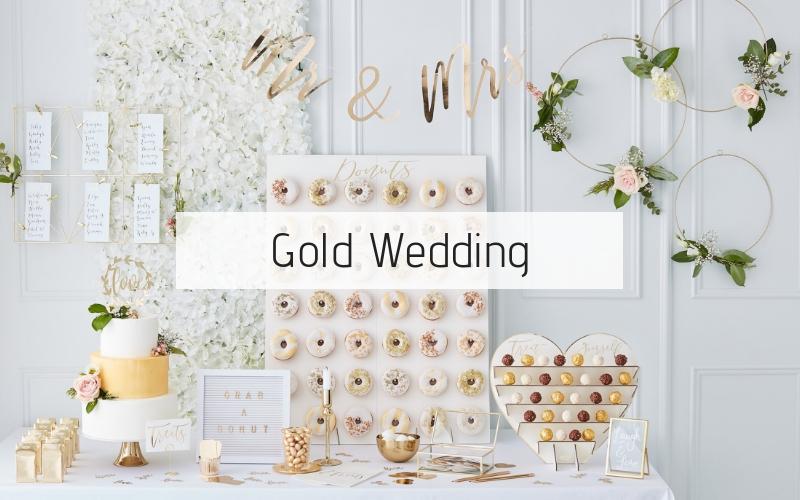 Bruiloft trend 2019: Gold Wedding