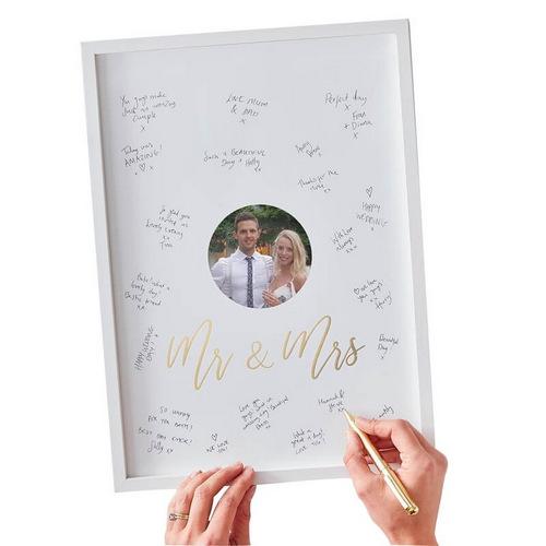 bruiloft-decoratie-houten-frame-gastenboek-gold-wedding (1)