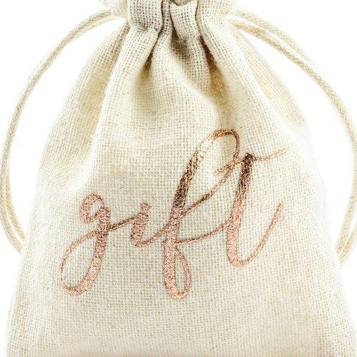bruiloft-decoratie-katoenen-zakjes-gift-rosegoud-2