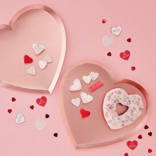 bruiloft-decoratie-papieren-bordjes-pink-heart-be-my-valentine-2