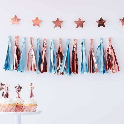 bruiloft-decoratie-tasselslinger-blue-rose-gold-twinkle-twinkle-2