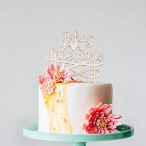 bruilot-decoratie-taarttopper-namen-sierlijk-gepersonaliseerd