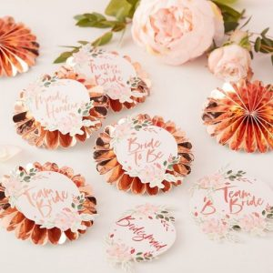 vrijgezellenfeest-decoratie-floral-hen-badges-kit