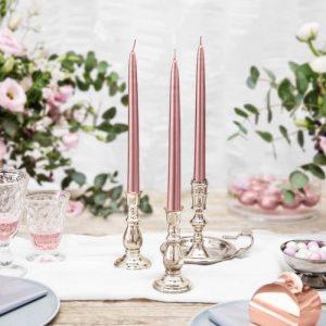 bruiloft-decoratie-dinerkaarsen-mat-rosegoud