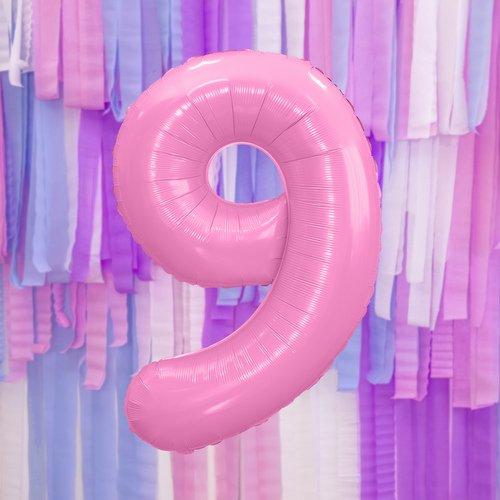 bruiloft-decoratie-mega-folieballon-roze-cijfer-9-002