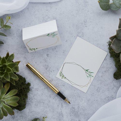 bruiloft-decoratie-plaatskaartjes-geometric-greenery