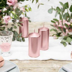 bruiloft-decoratie-staande-kaars-rosegoud
