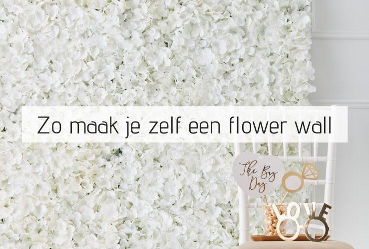 Zo maak je zelf makkelijk een flower wall
