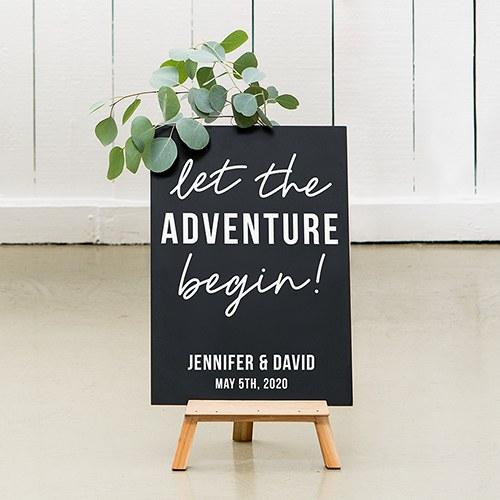 bruiloft-decoratie-krijtbord-let the-adventure-begin-gepersonaliseerd-3