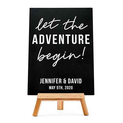 bruiloft-decoratie-krijtbord-let the-adventure-begin-gepersonaliseerd