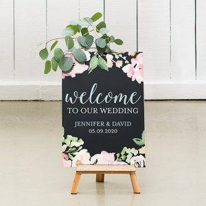 bruiloft-decoratie-krijtbord-welcome-floral-gepersonaliseerd-3