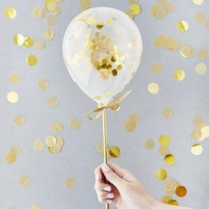 bruiloft-decoratie-mini-gouden-confetti-ballonnenkit