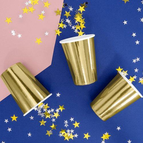 bruiloft-decoratie-papieren-bekertjes-metallic-gold-2