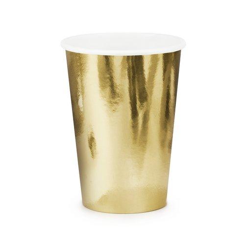 bruiloft-decoratie-papieren-bekertjes-metallic-gold