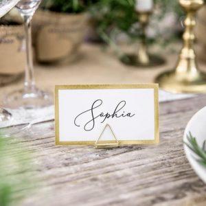 bruiloft-decoratie-plaatskaarthouders-triangle-goud-3