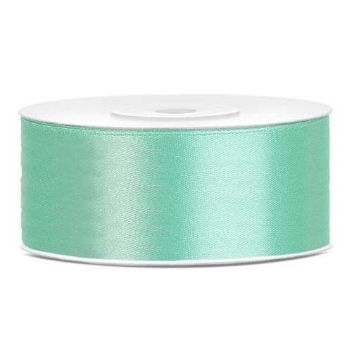bruiloft-decoratie-satijnlint-25mm-mint