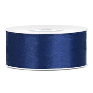 bruiloft-decoratie-satijnlint-25mm-navy-blauw
