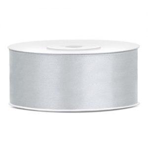 bruiloft-decoratie-satijnlint-25mm-zilver