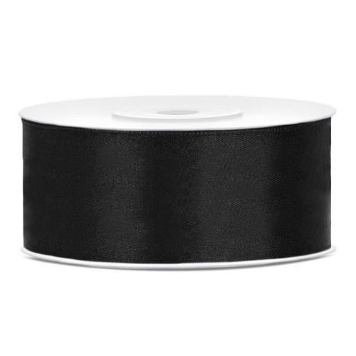 bruiloft-decoratie-satijnlint-25mm-zwart