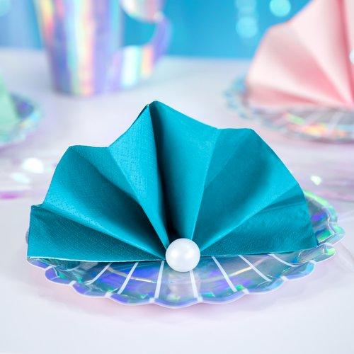 bruiloft-decoratie-servetten-turquoise-3