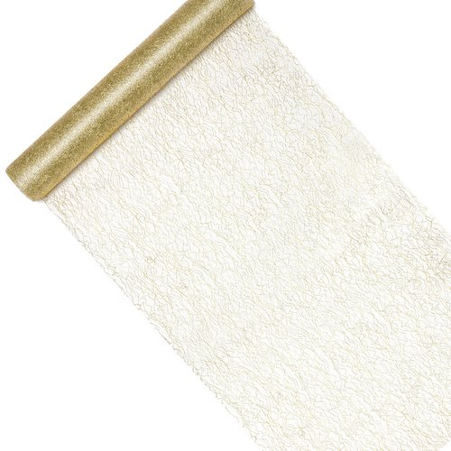 bruiloft-decoratie-tafelloper-fiber-gold