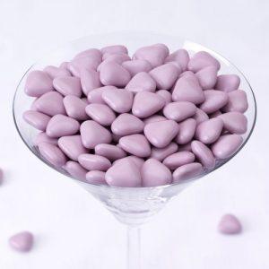 bruidssuiker-hartjes-lila