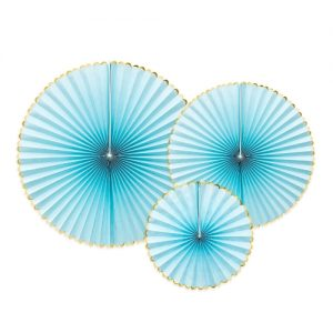 bruiloft-decoratie-paper-fans-light-blue-gold