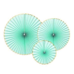 bruiloft-decoratie-paper-fans-mint-gold