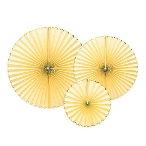 bruiloft-decoratie-paper-fans-yellow-gold