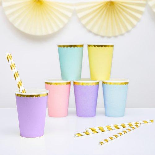 bruiloft-decoratie-papieren-bekertjes-pastel-perfection-lila-3