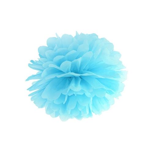 bruiloft-decoratie-pompom-lichtblauw
