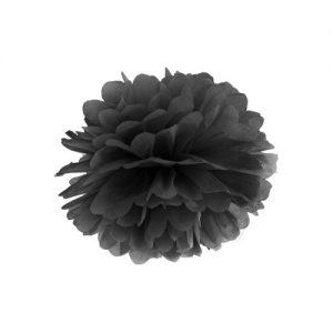 bruiloft-decoratie-pompom-zwart