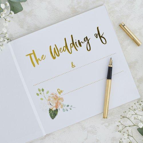 gastenboek-bruiloft-our-story-begins-rustic-romance
