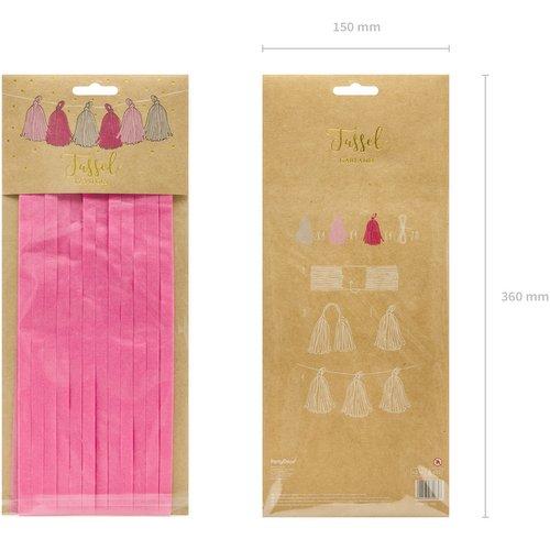 bruiloft-decoratie-tasselslinger-cream-pink-dark-pink