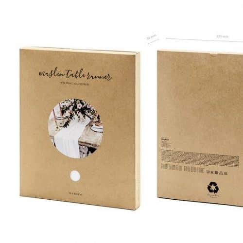 bruiloft-decoratie-tafelloper-muslin-light-cream