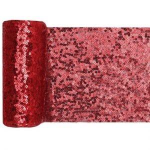 bruiloft-decoratie-tafelloper-sequin-rood (2)