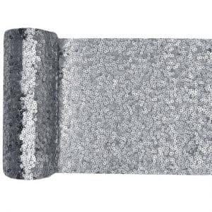 bruiloft-decoratie-tafelloper-sequin-zilver (2)