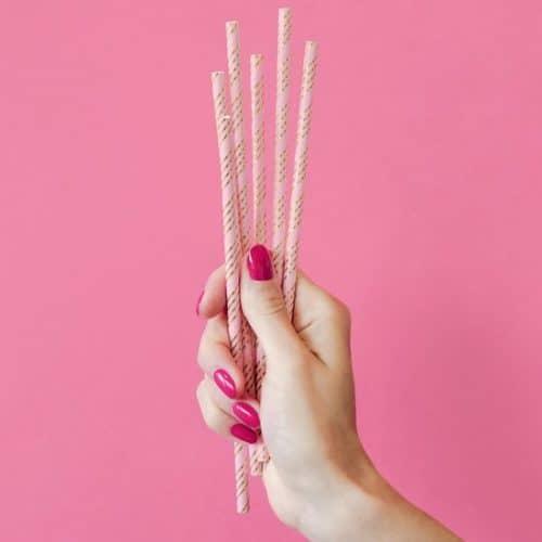bruiloft-decoratie-papieren-rietjes-pink-gold-2