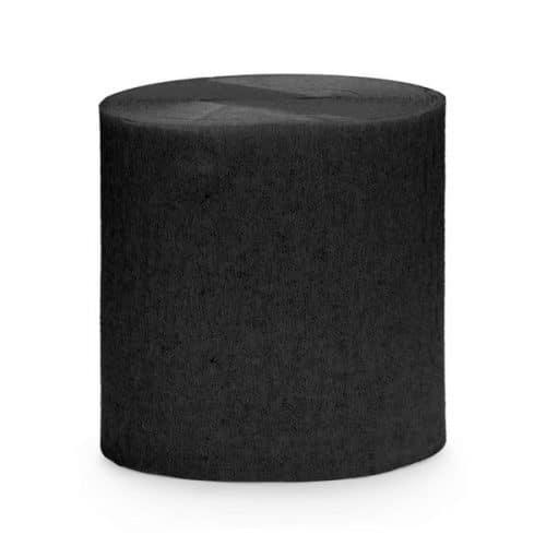bruiloft-decoratie-crepe-papier-slinger-zwart-2