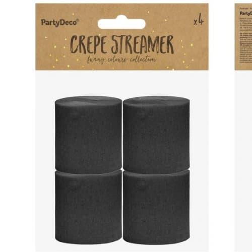 bruiloft-decoratie-crepe-papier-slinger-zwart