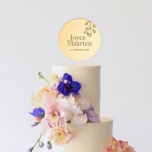 bruiloft-decoratie-taarttoper-botanical-gepersonaliseerd