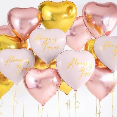 bruiloft-decoratie-folieballon-always-forever-pink-gold-2