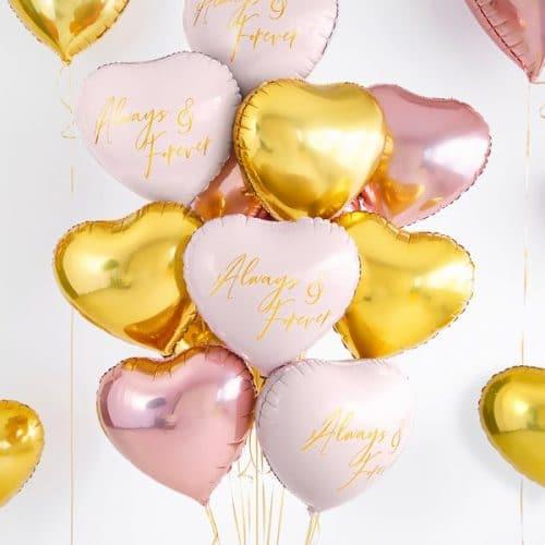 bruiloft-decoratie-folieballon-always-forever-pink-gold-3