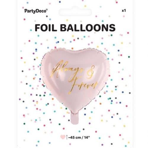 bruiloft-decoratie-folieballon-always-forever-pink-gold-4