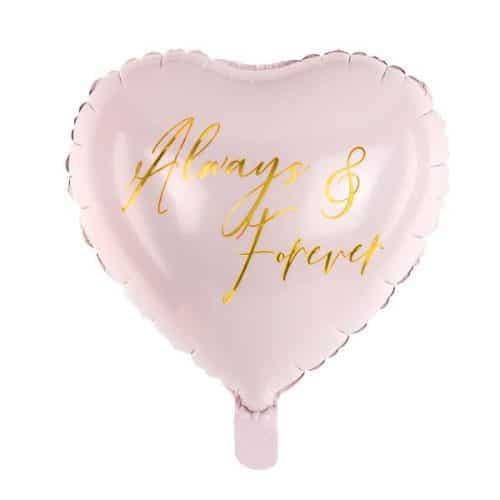 bruiloft-decoratie-folieballon-always-forever-pink-gold