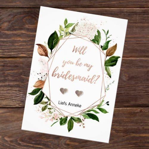 bruiloft-decoratie-oorbellen-will-you-be-my-bridesmaid-rose-gold-greenery-eng