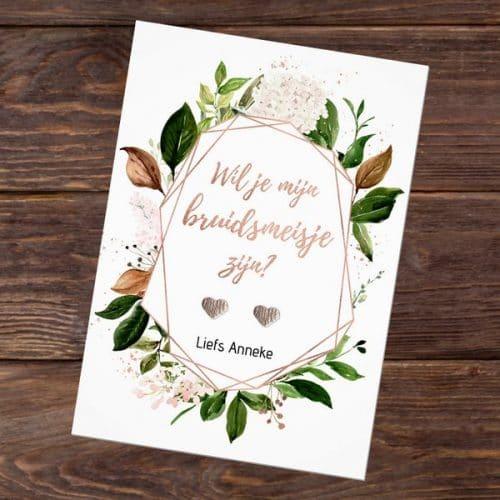 bruiloft-decoratie-oorbellen-will-you-be-my-bridesmaid-rose-gold-greenery-nl